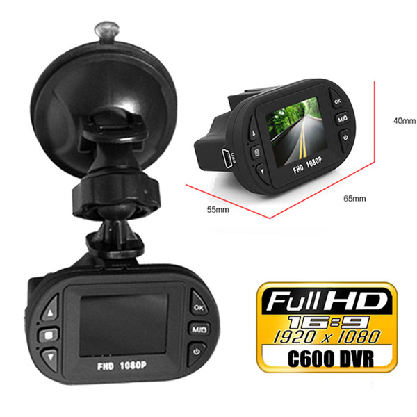 Newest Mini Size HD 1920*1080P 12 IR LED Car Vehicle CAM Video Dash Camera C600 Recorder Russian Car DVR