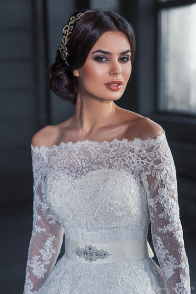 Romantic Sexy 2016 Cheap Bridal Bolero Jacket White Long Sleeves Lace Beads Off Shoulder Illusion Button Back Formal Bridal Wraps Plus Size