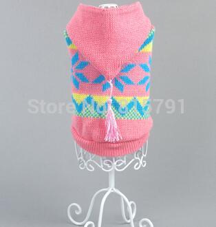 Venta al por mayor-caliente moda nueva lana perro invierno suéter con capucha