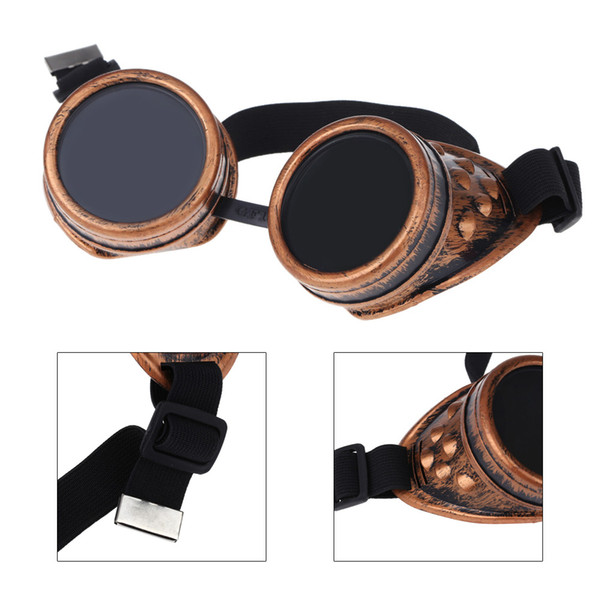 best selling Steampunk Safety Goggles Steam Punk Windproof Vintage Welding Gothic Cosplay Lenses Protective Glasses order<$18no track