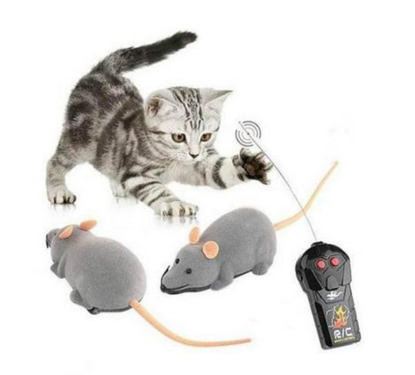 Nuevo llega 3 colores de control remoto electrónico inalámbrico Rat Ratón gato mascota regalo divertido juguete caliente