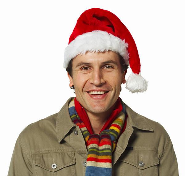 Xmas Hat Fur Santa Claus Hats Adult Wizard Cap Funky Hand Christmas Beanies Hats Free Shipping
