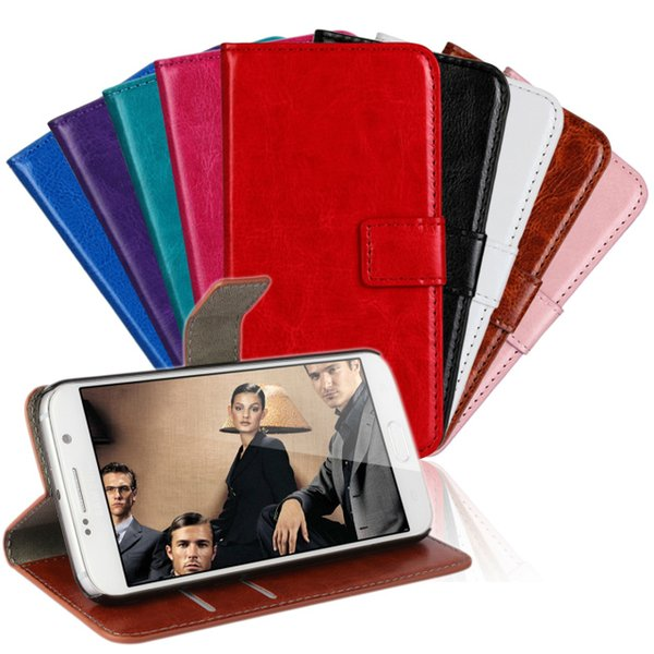 Crazy Horse Leather Case For iPhone6 6Plus 4S 5S 5C S3 4 5 6 Edge Note2 3 4 With Card Stand Case Colorful