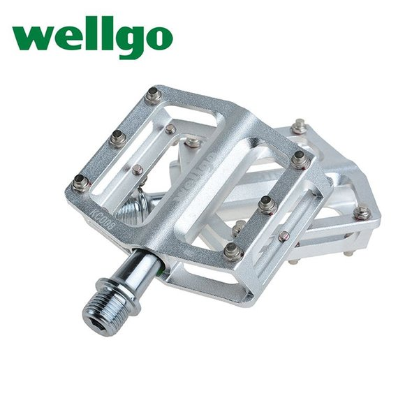 """WELLGO KC008 Bike Bicycle Ultralight Aluminum Extruted Platform Pedals 9/16"""" Spindle Sealed Bearing for Road Bike MTB BMX DH"""
