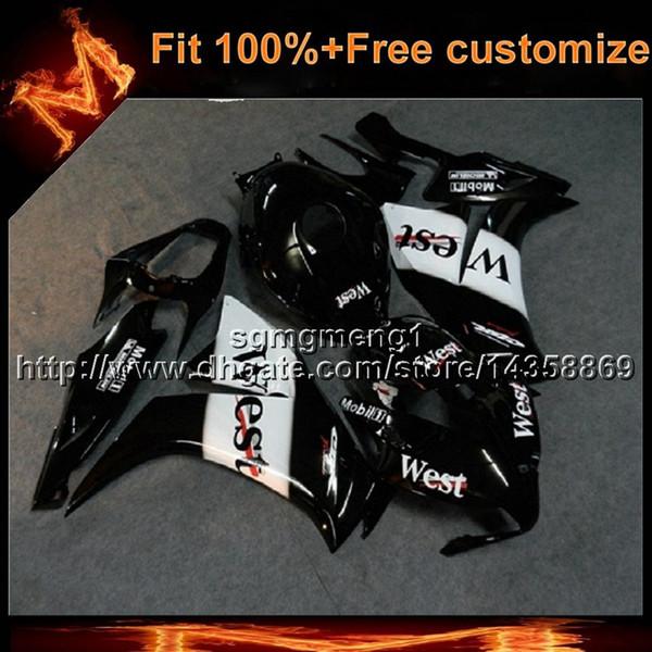 23 couleurs + 8 Cadeaux moulage par injection ouest noir capot de moto pour HONDA CBR1000RR 2012-2016 CBR1000RR 12-16 ABS carénage en plastique