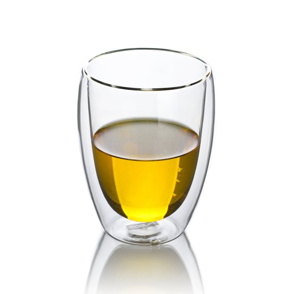 1 x 10 fl.oz 300ml Heat Resistant Glass Double Wall Wine Water Egg Shape Cup Mug Drop Shipping