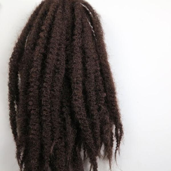Afro Kinky Marley Braid Hair 20inch 100g # 33 / Dark Auburn Brown 100% Kanekalon Trenzas sintéticas trenzan las extensiones de cabello 7 colores