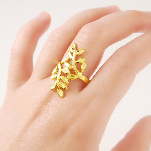 2015 new Gold Ring 24k Gold Ring Chain Men Ring Mens White Gold