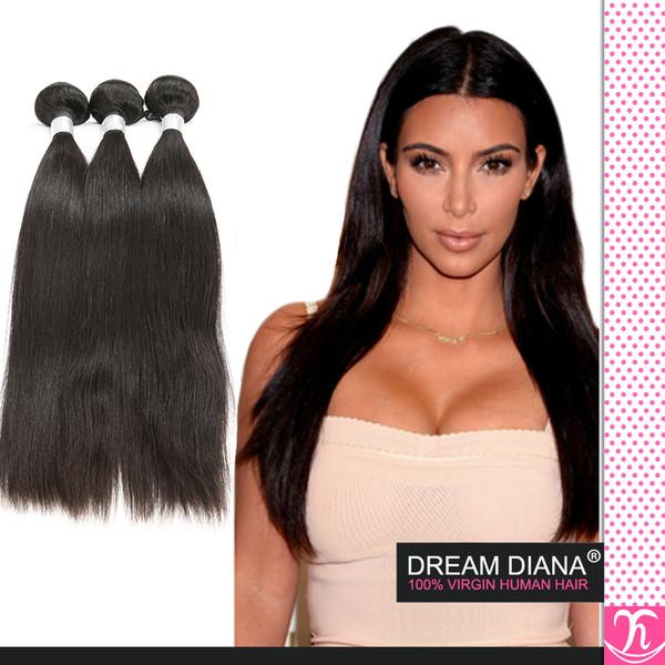 Mocha Hair Products 6a Pelo Virginal Sin Procesar Brazillian Straight Hair Weave Rosa Pelo Recto Brasileño 3pcs Lote Top Extensiones de Cabello
