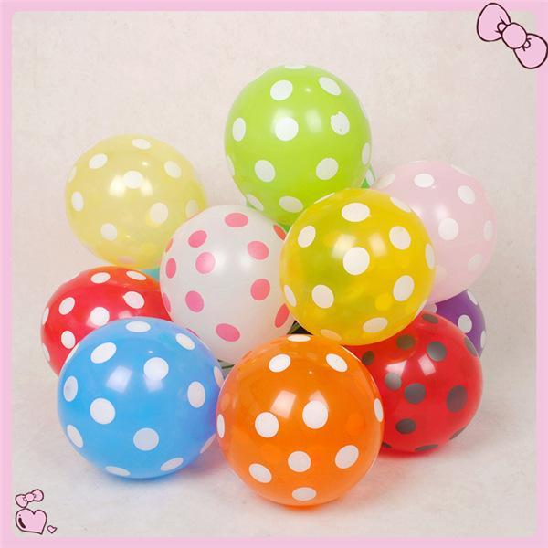 İyi Koku 100 adet / grup 12 '' Düğün Dekorasyon Polka Dot Balonlar Karışık Renkler Parti dekorasyon polka dot balon ücretsiz kargo JIA251