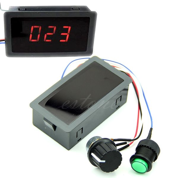DC 6-30V 12V 24V Max 8A Motor PWM Speed Controller With Digital Display & Switch
