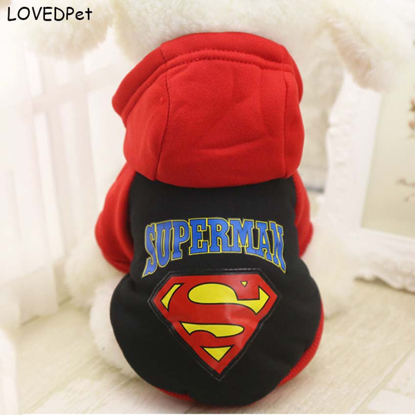 Superman Autumn Dog Suits Pets Cat Dog Winter Clothing Animals Clothes for small dogs Chihuahua Yorkies Dog Cat Products Cloth