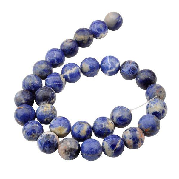Perle di pietra naturale sodalite 14mm tondo per fai da te fare gioielli braccialetto di fascino collana sciolto 28 pezzi perline di pietra per commerci all'ingrosso