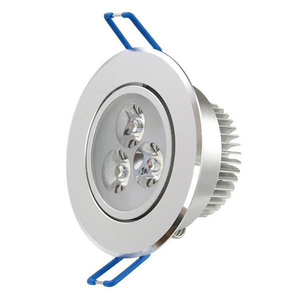 HOT!!3w down light ,dimmable ceiling light white colour shell,cool/ warm white,30 degree angle, 2yrs