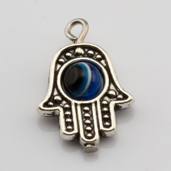 Hot ! 100PCS Antique Silve Hamsa Hand EVIL EYE Kabbalah Good Luck Charm Pendant 13 x19 mm DIY Jewelry