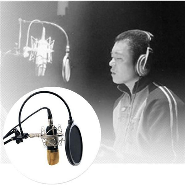 Studio Speaking Recording Microphone Mic Double Layer Wind Screen Mask Gooseneck Shield Pop Filter order<$18no track