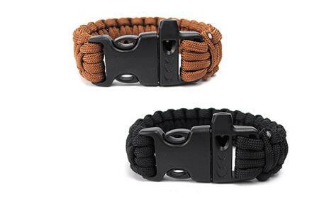 Free shipping Self-rescue Paracord Parachute Cord Bracelets Survival bracelet Camping Travel Kit 2017 new