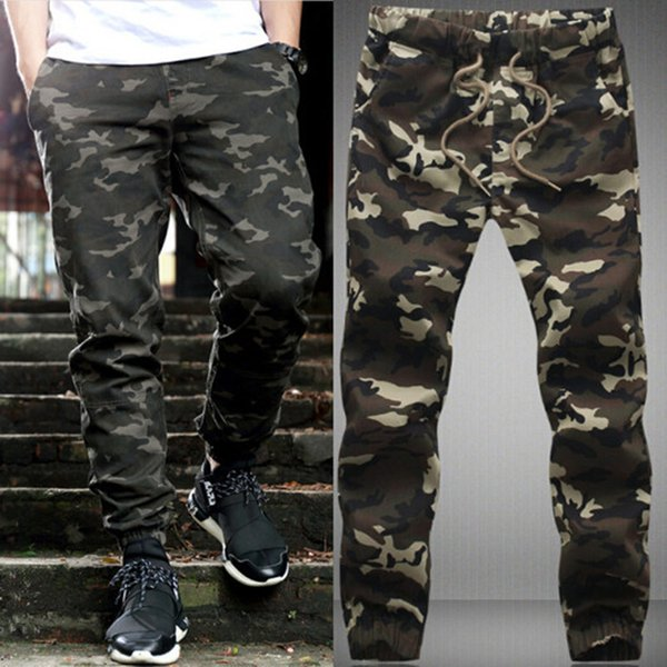 Wholesale-2015 Fashion Hanging Crotch Harem Pants Men's Korean Cool Big Camouflage Hip Hop Jogger Pants Trousers
