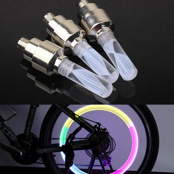 best selling Color Changable LED Flash Tyre Bike Wheel Valve Cap Light Car Bicycle Motorbicycle Wheel Tire Light LED Blue Green Red Yellow Light Colorful