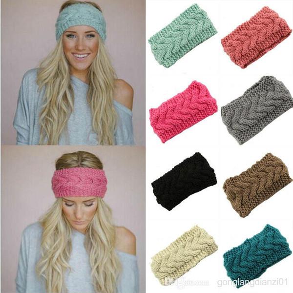 Online Cheap Ladies Womens Girls Knitted Headband Hair Band Ski Hat