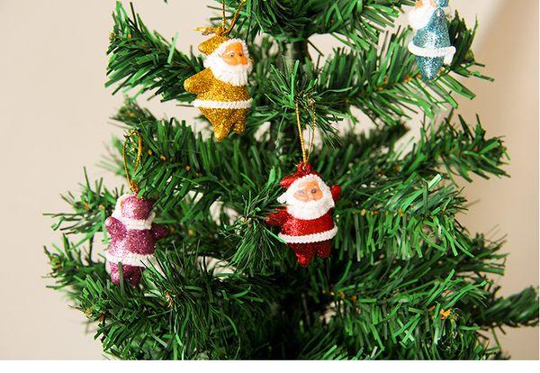 2017 novo pó de ouro Policromatic Papai Noel, delicados enfeites de árvore de Natal, decorações de natal, presentes