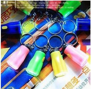 Hiking Camping Outdoor Gear LED Mini Keychain super bright flashlight Torch Flower Shape Key Chain Ring Mixed Colors free shipping