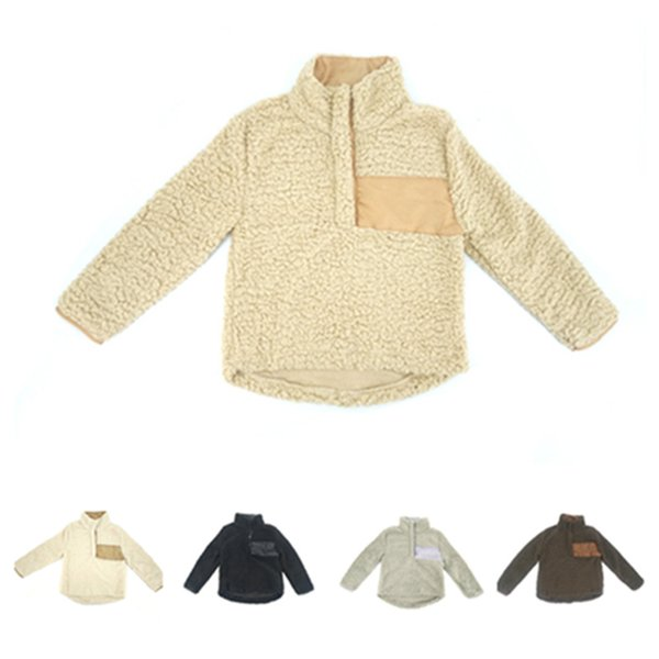 Familie Passende Outfits für Kinder und Mütter Fleece Mosaik Casual Jumper Warmer Wintermantel Mode Baby Mädchen Jungen