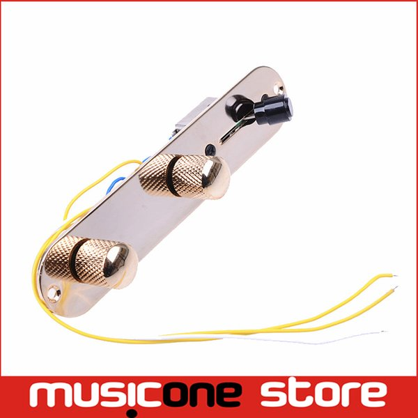 top popular Gold 3 Way Wired Loaded Prewired Control Plate Harness Switch Knobs for TL Tele Telecaster Guitar accessories MU0604 2019