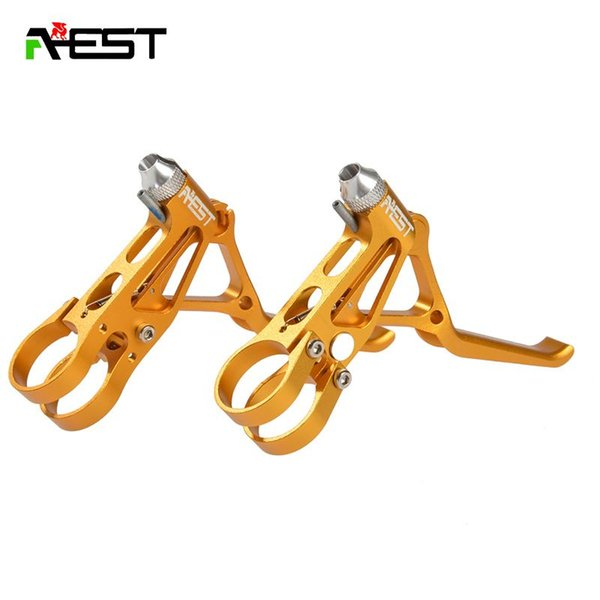 AEST Aluminum MTB Mountain Bike Road Bike V Brake Lever Mechanical Disc Brake Lever CNC Bicycle Accessories 70g 1pair 5Colors