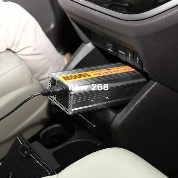 Convertitore per convertitore di potenza DC 12V a CA 110V per veicolo auto da 850W con porta USB - argento