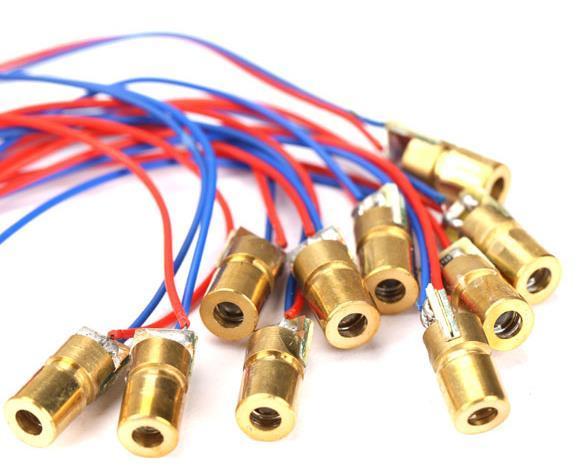 Módulo de Ponto a laser Módulos de Diodo A Laser Cabeça de Cobre Vermelho 650nm 6mm 6.5mm 3 V 5 V 12 V 5 mW 1000 PCS / LOT