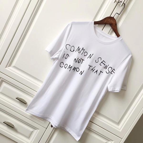 18ss De Luxe Europe Italie Vintage Coco Capatain T-shirt De Mode Hommes Femmes T-shirt Casual Coton T-shirt