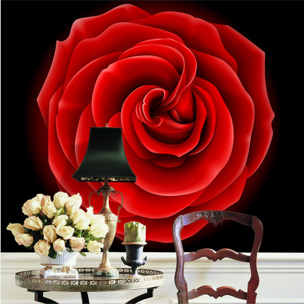 Sexy Red Rose Photo Wallpaper Large View Art Wall Mural Setting Wall Decoration Art Picture Modern Home Decor Zha0089 Wholesale Free Ship Top