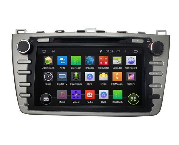 Touch screen capacitivo 100% Android 4.4 8 pollici GPS per auto GPS per Mazda 6 2008-2012 Supporto DVR OBD costruito in WiFi 3G con Canbus