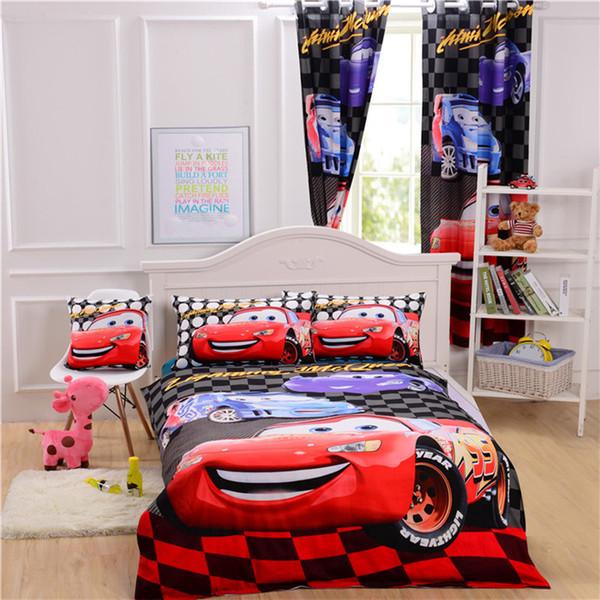 Pixar Cars Bedding Set Mcqueen Bedroom Curtains/Duvet Cover/Sheet/Cushion  Cover Bedlinen Single Double Queen For Boys Bedding Linens Full Duvet  Covers ...