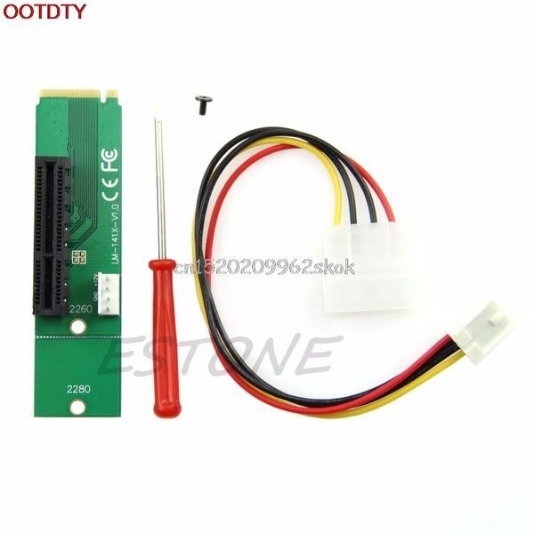 Venta al por mayor-PCI-E 4X hembra a NGFF M.2 M clave adaptador macho Cable de alimentación con la tarjeta convertidora # H029 #