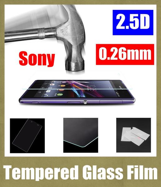 pellicola di vetro temperante per sony Xperia z3 mini 0.26mm premium vetro temperato schermo trasparente per Sony E4G Xperia s / lt26i SSC028