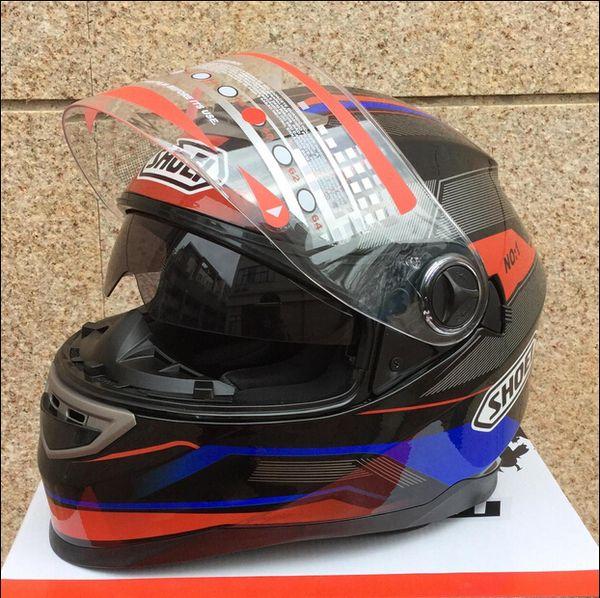 top popular Wholesale-New arrival Motorcycle helmet open face helmet shoei full face helmet double lens knight's helmet 2021