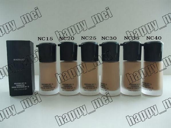 Factory Direct DHL Livraison Gratuite Nouveau Maquillage Professionnel Visage Mineralize Foundation Liquid SPF15! 30ml