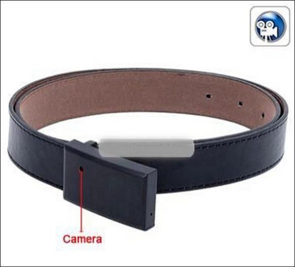 freie Verschiffen heißer verkaufender Gürtelschnallen-Kamera, Camcorder des Gurt-DVR, Lochkamera / verdeckte Kamera Ledergürtelkamera