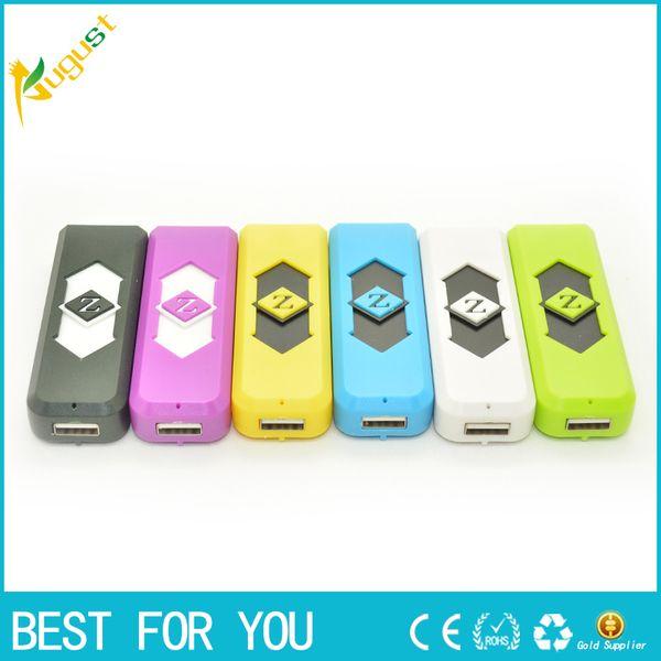 top popular Portable DANNI USB lighter Electronic Battery Flameless Lighter with flash light display click n vape sneak a toke lighter 2021
