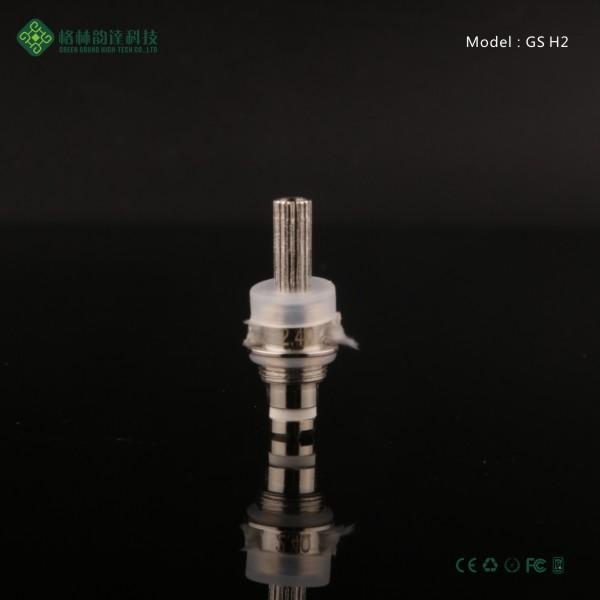 Factory price GS H2 Atomizer Core Changeable GS-H2 Clearomizer coil head Replaceable GS H2 ego t 1.8ohm single coil h2 atomizer