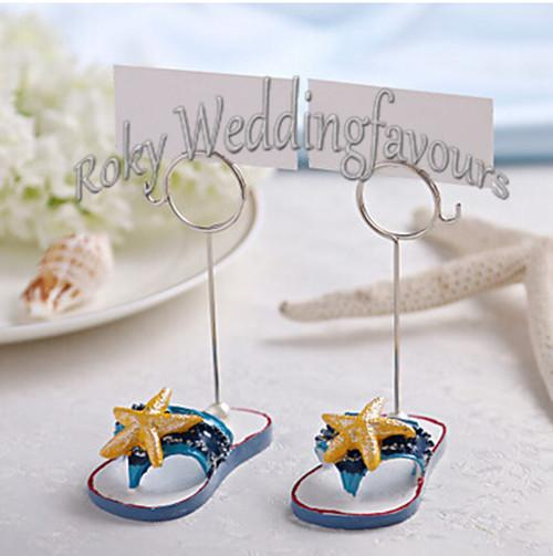 Free Shipping!24pcs=12pairs/lot Exquisite Flip Flop Place Card Holder Favors Wedding Favors Party Favors Party Decoration Gifts