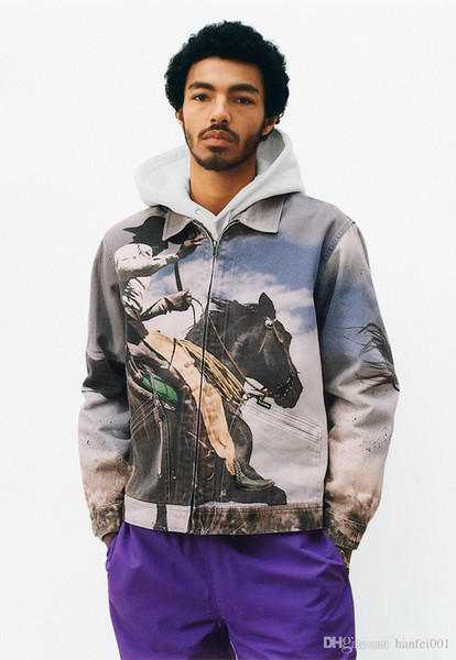 17SS S Cowboy Denim Work Jacket Men Women Fashion Coats Western Cowboy Jacket Hip Hop Outerwear S~XL HFJK015