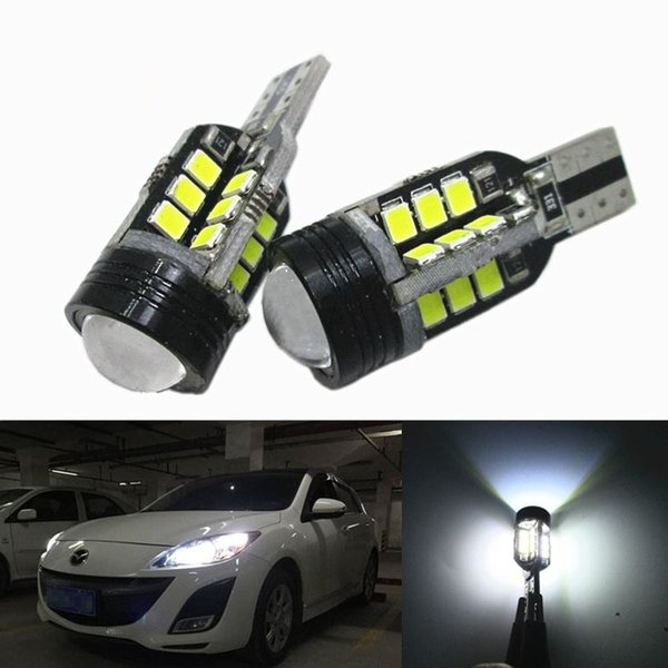 2x T15 White Led 24+1 COB LED Bulb Canbus DC 12V 2835 SMD Light Lamp Car Auto Reading Lights Bulb Reverse Backup Lights Tail Light