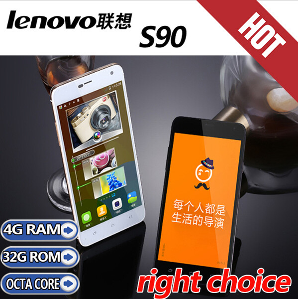 new Original Lenovo phone Android lenovo S90 5.0'' 3G 16MP MTK6592 octal core 1920*1080 4G RAM+32G ROM 13MP GPS DUAL SIM unlocked cell phone