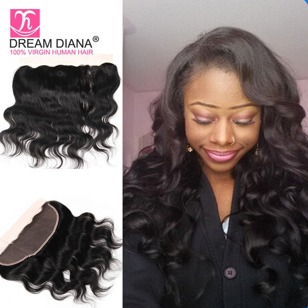 Queen Hair Brazilian Lace Frontal Closure Body Wave Tissage Bresilienne Virgin Human Hair 13X4 Lace Frontals With Baby Hair Dream Diana