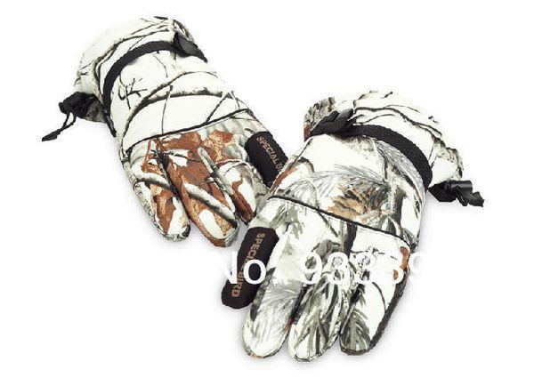 Gros-Polyester + neige polaire gants de camouflage bionic outdoor camouflage gants imperméables en hiver