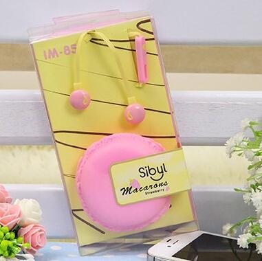 Cuffie all'ingrosso-carine Macarons Cuffie auricolari di moda con connettore stereo da 3,5 mm Microfono per cuffie telefoniche