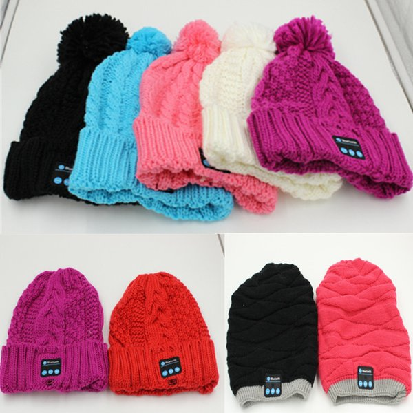 Bluetooth Beanie Knitted Winter Hat Headset Hands-free Music Mp3 Speaker Mic Cap Magic Sport Hats 40pcs Free Shipping